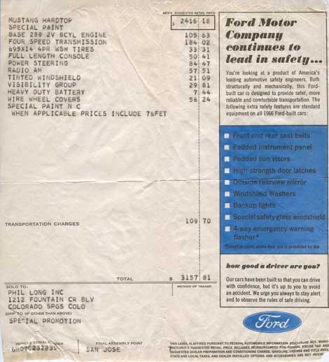 Invoice 1966 HCS