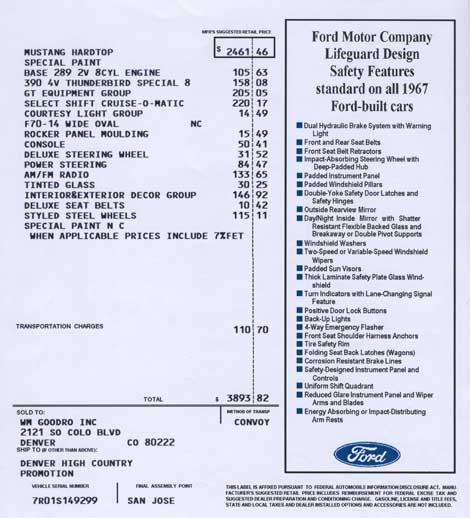 Invoice 1967 HCS